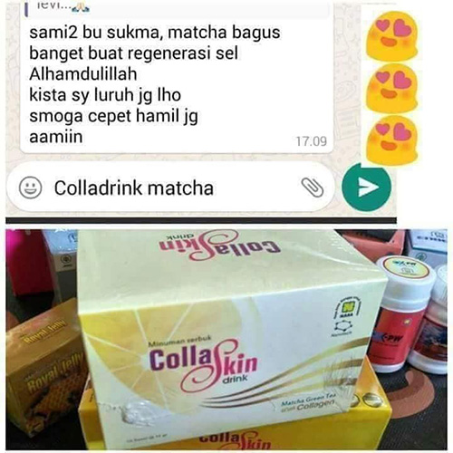testi collaskin matcha green tea